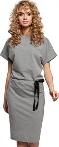 Sukienka MOE z bawełny midi z krótkim rękawem