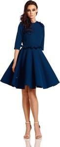 Niebieska sukienka Lemoniade mini z okrągłym dekoltem