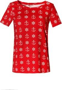 Bluzka TOVA w stylu casual z okrągłym dekoltem