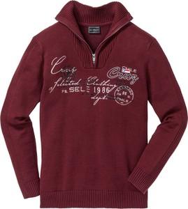 Czerwony sweter bonprix bpc selection