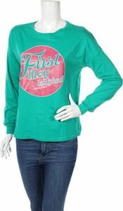 Zielona bluzka Yfl Reserved z długim rękawem