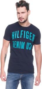 Granatowy t-shirt Hilfiger Denim