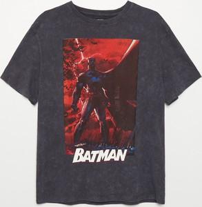 T-shirt Cropp z krótkim rękawem w młodzieżowym stylu z okrągłym dekoltem