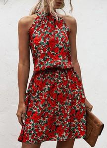 Sukienka Sandbella w stylu casual mini z dekoltem halter