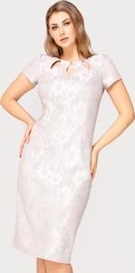 Sukienka Tomasz Sar midi z krótkim rękawem