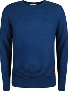 Niebieski sweter Calvin Klein w stylu casual z dzianiny