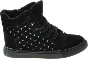 Buty dziecięce zimowe Pantofelek24 z zamszu dla dziewczynek
