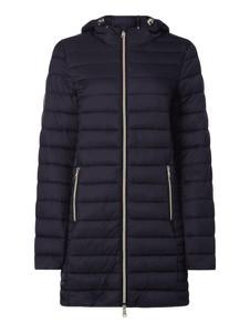 Granatowy płaszcz Montego w stylu casual