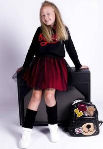 Czerwona tunika dziewczęca Małami z bawełny