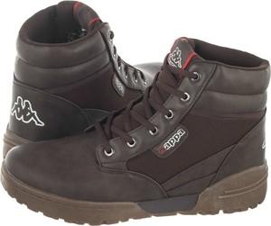 Brązowe buty zimowe Kappa sznurowane