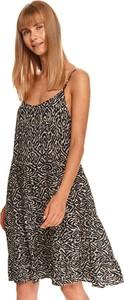 Sukienka Top Secret na ramiączkach w stylu casual koszulowa