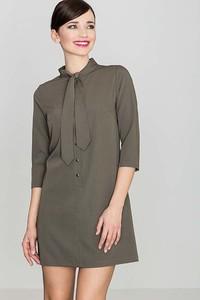 Sukienka Katrus mini w stylu casual z żabotem