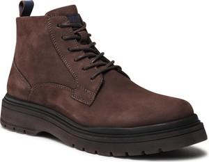 Brązowe buty zimowe Badura