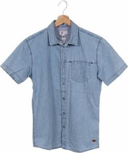 Niebieska koszula Lee Cooper z krótkim rękawem w stylu casual z klasycznym kołnierzykiem