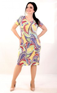 Sukienka Oscar Fashion z dekoltem w kształcie litery v w stylu casual