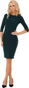 Czarna sukienka MERRIBEL midi z długim rękawem
