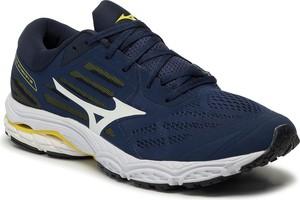 Niebieskie buty sportowe Mizuno sznurowane