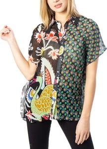 Koszula Desigual w stylu casual z jedwabiu