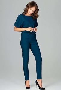 Niebieski kombinezon Katrus z długimi nogawkami
