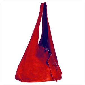 Czerwona torebka Borse in Pelle matowa duża w stylu glamour