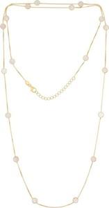 Irbis.style srebrny pozłacany naszyjnik z masą perłową