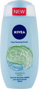 Nivea Clay Fresh Żel Pod Prysznic 250Ml Ginger & Basil