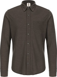 Brązowa koszula super.natural z wełny