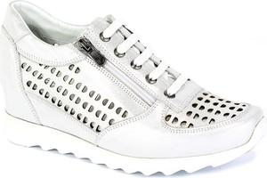 Buty sportowe Boccato z płaską podeszwą ze skóry