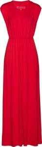 Czerwona sukienka bonprix bpc selection bez rękawów
