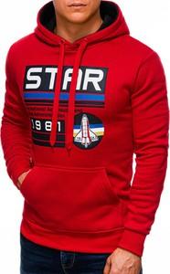 Czerwona bluza Edoti w młodzieżowym stylu z bawełny
