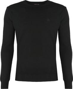 Czarny sweter Roberto Cavalli z wełny w stylu casual