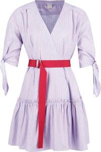 Sukienka Pinko z długim rękawem w stylu casual mini