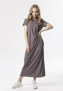 Sukienka born2be z krótkim rękawem prosta