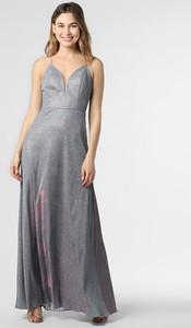 Sukienka Luxuar Fashion maxi na ramiączkach z dekoltem w kształcie litery v