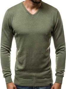 Zielony sweter Ozonee.pl w stylu casual z bawełny