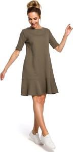 Zielona sukienka Merg w stylu casual mini