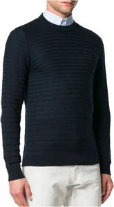 Niebieski sweter Emporio Armani z wełny w stylu casual