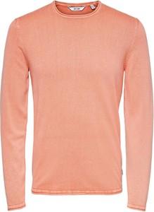 Sweter Only & Sons w stylu casual z okrągłym dekoltem