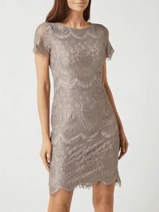 Sukienka Swing w stylu boho z okrągłym dekoltem
