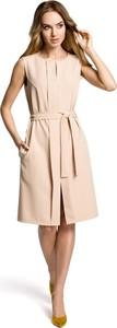 Sukienka MOE w stylu casual bez rękawów midi