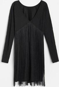Sukienka Reserved mini z długim rękawem w stylu boho