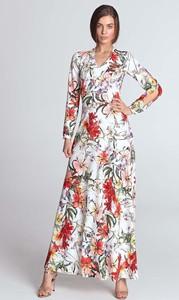 Sukienka Nife z dekoltem w kształcie litery v z długim rękawem