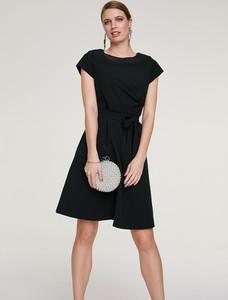 Sukienka Heine mini z okrągłym dekoltem z krótkim rękawem