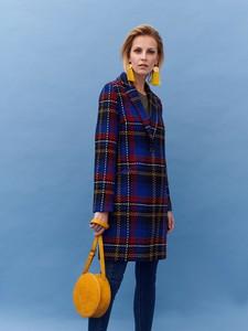 Niebieski płaszcz Top Secret w stylu casual