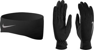 Czarne rękawiczki Nike w sportowym stylu