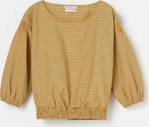 Żółta bluzka dziecięca Reserved z długim rękawem