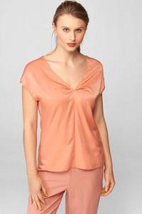 Pomarańczowa bluzka ORSAY z krótkim rękawem