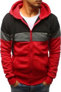 Czerwona bluza Dstreet w street stylu