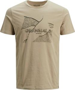 T-shirt Jack & Jones w młodzieżowym stylu z bawełny