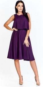 Sukienka Keyla bez rękawów z tkaniny z okrągłym dekoltem
